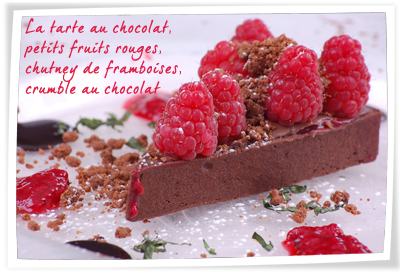 Tarte au chocolat et fruits rouges